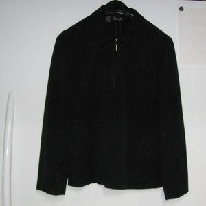 Vtg Rafaella Classic Black Zip Front Jacket Sz 6